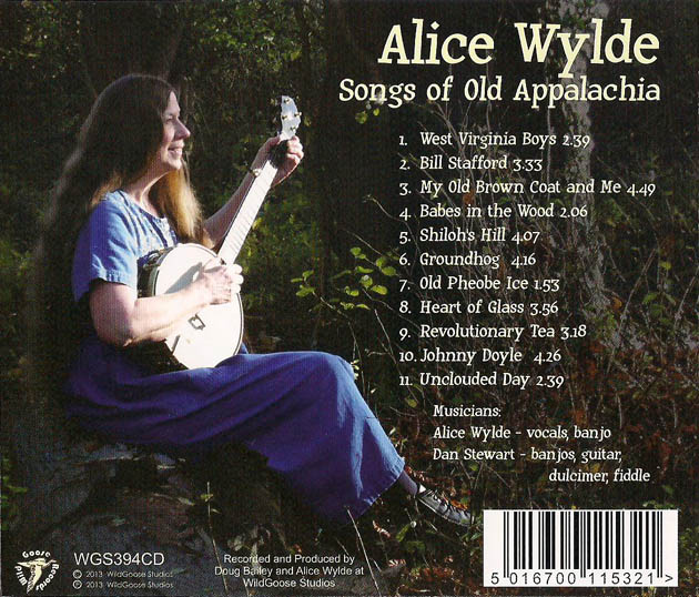 Songs of Old Appalachia - back